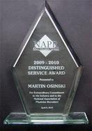 NAPR Distinguished Service Award 2009-2010