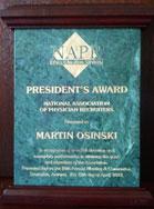NAPR President's Award 2012