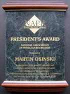 NAPR President's Award, 2006